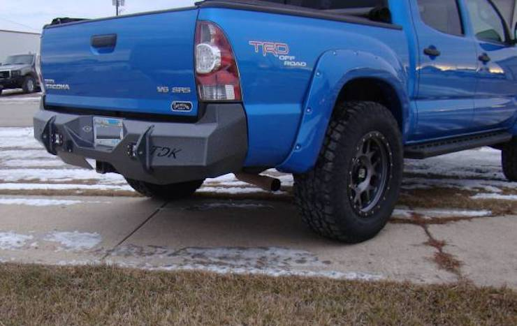 Toyota steel rear bumper