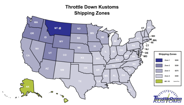TDK Shipping Zones