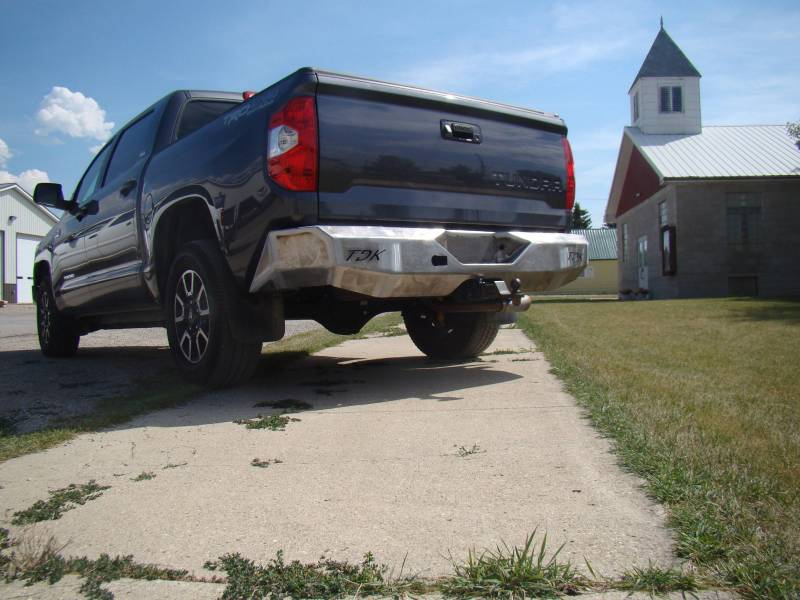 Steel Rear Bumper For 2014 2018 Toyota Tundra
