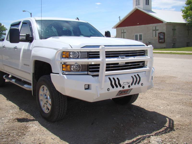 Chevy Grill Guard >> Standard Steel Bumper W Grille Guard For 2015 2018 Chevrolet 2500 3500