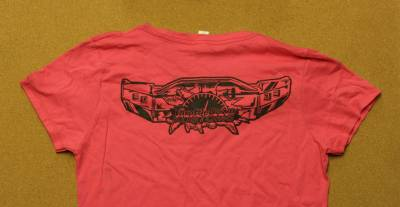 Throttle Down Kustoms - Womens Pink TShirt Large