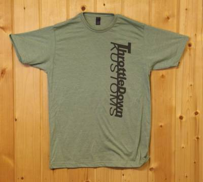 Throttle Down Kustoms - Throttle Down Kustoms T Shirt Green