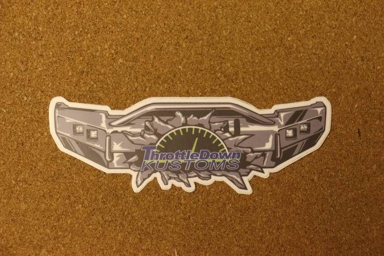 Throttle Down Kustoms - Throttle Down Kustoms Sticker
