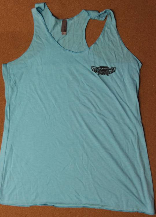 Throttle Down Kustoms - Womens Light Blue Tank Top