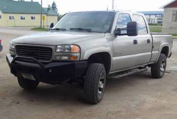 Throttle Down Kustoms - 2001-2002 GMC HD Push Bar