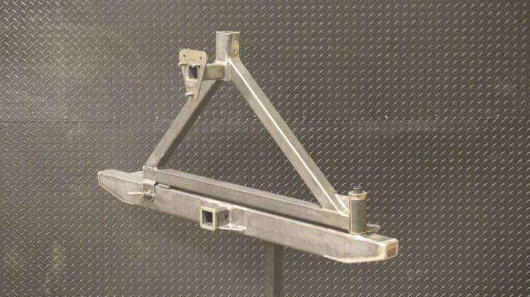 Throttle Down Kustoms - Bumper Tire Carrier Receiver Hitch