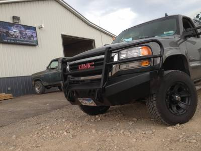 GMC - Bumper Grille Guard - Throttle Down Kustoms - 2003-2006 GMC HD Bumper Grille Guard