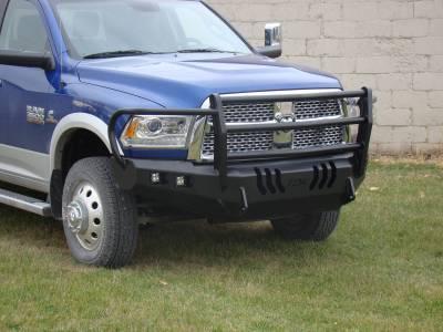 Dodge - Bumper Grille Guard - Throttle Down Kustoms - 2010-2018 Dodge HD Bumper Grille Guard