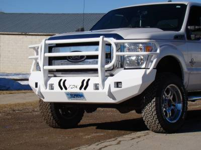 Ford - Bumper Grille Guard - Throttle Down Kustoms - 2011-2016 Ford Super Duty Bumper Grille Guard