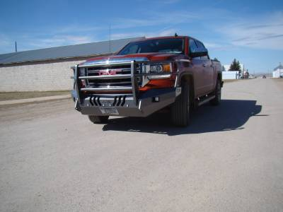 GMC - Bumper Grille Guard - Throttle Down Kustoms - 2014-2015 GMC 1500 Bumper Grille Guard