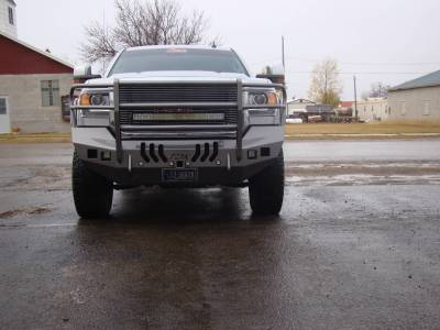 GMC - Bumper Grille Guard - Throttle Down Kustoms - 2015-2019 GMC HD Bumper Grille Guard