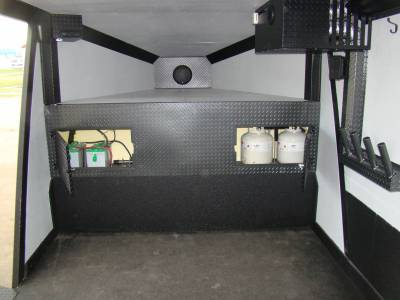 Battery and Propane access doors