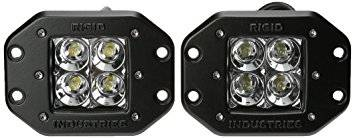 Bumper Accessories - LED Lights  - Rigid Industries  - Rigid Dually Flush Mount Lights Set 21211