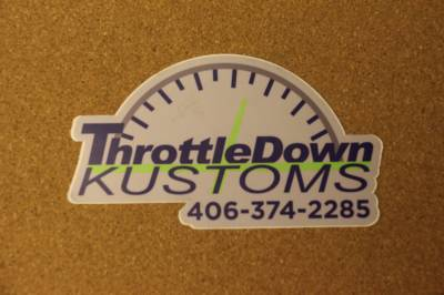 Apparel - Throttle Down Kustoms - Throttle Down Kustoms Sticker