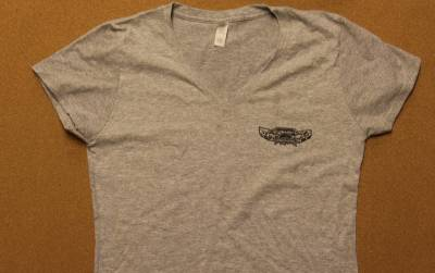 Throttle Down Kustoms - Womens Grey Tshirt Large - Image 2