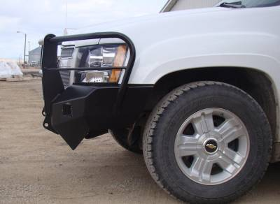 Chevrolet - Bumper Grille Guard - Throttle Down Kustoms - 2007-2013 Chevy 1500 Bumper Grille Guard