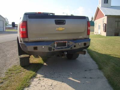 Chevrolet - Rear Bumper - Throttle Down Kustoms - 2007-2010 Chevrolet Rear Bumper