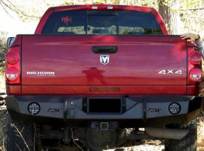 Dodge - Rear Bumper - Throttle Down Kustoms - 2010-2018 Dodge/Ram Rear Bumper