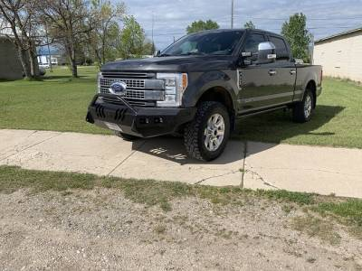 Ford - Push Bar - Throttle Down Kustoms - 2017-2019 Ford Super Duty Push Bar